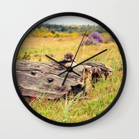 beach log Wall Clock