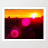 Sunset Over Rome Art Print