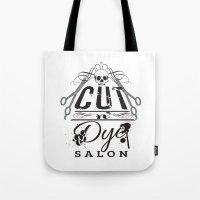 Cut N' Dye Black And W… Tote Bag