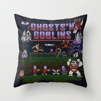 Ghosts n' Goblins Throw Pillow