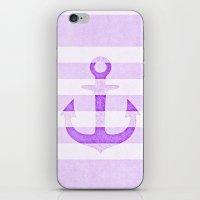Vintage Anchor Purple iPhone & iPod Skin
