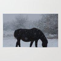 Snow Horse Rug