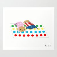 Hamsters Playing Twister… Art Print