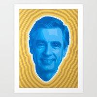 Mister Rogers Psychedeli… Art Print
