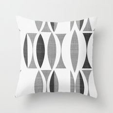 Seventies Black And Whit… Throw Pillow