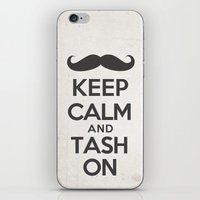 Keep Calm and Tash On iPhone & iPod Skin