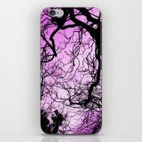 Purple evening moon through the trees iPhone & iPod Skin