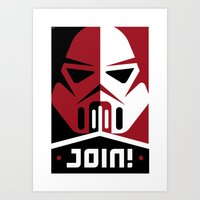 Join the Troops Art Print