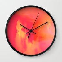 Acid Sun Wall Clock