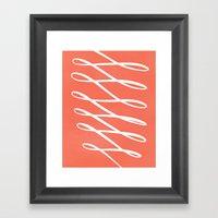 Ribbon Framed Art Print