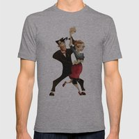 saul & annie Mens Fitted Tee Athletic Grey SMALL