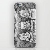 Icelandic foxes iPhone & iPod Skin