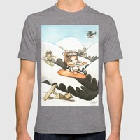 Snowboarders Mens Fitted Tee Tri-Grey SMALL