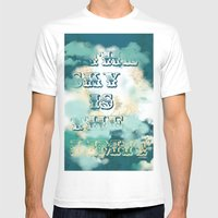 The Sky Is The Limit Mens Fitted Tee White SMALL