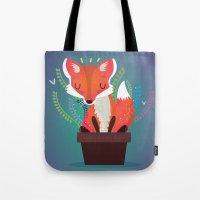 Fox in the pot Tote Bag