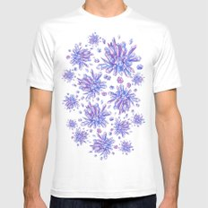 Zero Gravity Crystals SMALL Mens Fitted Tee White