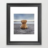Teddy Blue Framed Art Print