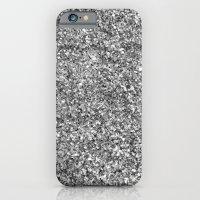 SILVER GLITTER iPhone 6 Slim Case