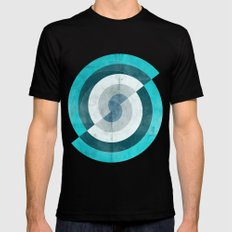 Blue Chaos Mens Fitted Tee Black SMALL