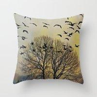 Bird Watching  - JUSTART… Throw Pillow