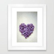 Summer Heart Framed Art Print