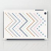Mixed Zig Zag - in Cobalt iPad Case
