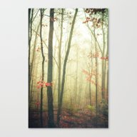 The Woods Are Lovely Dar… Canvas Print