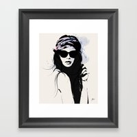 Infatuation - Digital Fashion Illustration Framed Art Print