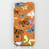 iPhone & iPod Case featuring Butterflies Butterflies by Pink Pagoda Studio / Barbara Perrine Chu