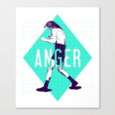 Anger Canvas Print