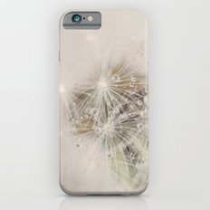 dandelion with rain drops iPhone 6 Slim Case
