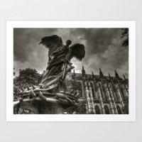 Angel With A Sword Art Print