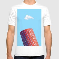 Architecture Pop White Mens Fitted Tee SMALL