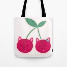 Cherry kitties Tote Bag