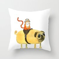 Commander Creamsicle Throw Pillow