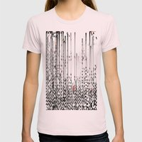 Black And White Noise Womens Fitted Tee Light Pink SMALL