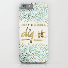Dig It – Gold & Turquo… iPhone 6 Slim Case