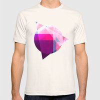 Digital Abstract Mens Fitted Tee Natural SMALL