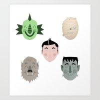 The Happy Monster Squad Art Print