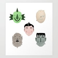 The Happy Monster Squad Art Print