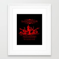 R'lyeh Whiskey Red Label Framed Art Print