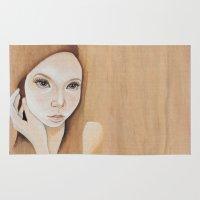 Self Portrait on Wood Rug