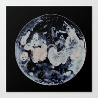 Watercolour Moon Canvas Print