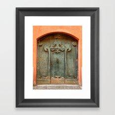 Front door I Framed Art Print