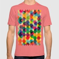 Hexagonzo Mens Fitted Tee Pomegranate SMALL