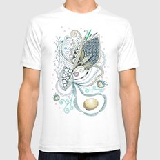 Beige tangle of joy and vibrant nature Mens Fitted Tee White SMALL