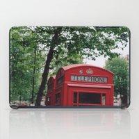 telephone boxes iPad Case