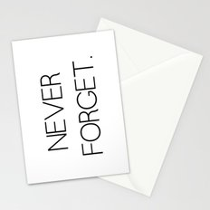 Never Forget Stationery Cards