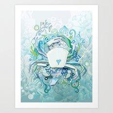 Crab tangling Art Print