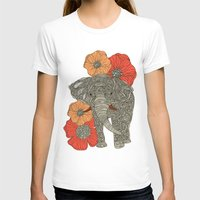 peacock T-shirts featuring The Elephant by Valentina Harper